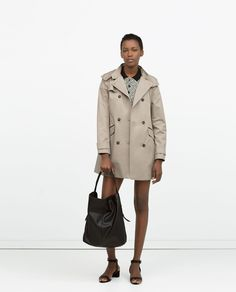 ZARA - WOMAN - HOODED COTTON TRENCHCOAT