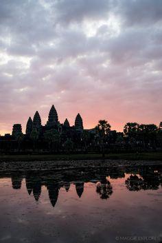 Angkor Wat, Siem Reap, Cambodia - Beautiful temple ruins at sunrise