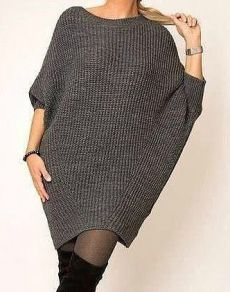 Knitwear Fashion, Knit Fashion, Fashion Outfits, Knitting Patterns Free, Knit Patterns, Crochet Clothes, Diy Clothes, Pulls, Knit Dress