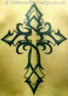 Nice Tribal Cross Tattoo Design