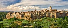 The unmistakable town of Pitigliano