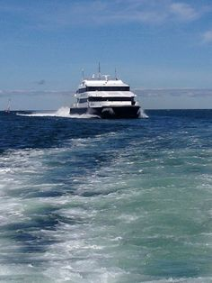 Hi-Speed Ferry to 'The Islands' Nantucket and Martha's Vineyard {photo by CCG} Cap Cod, Cape Cod Ma, Most Romantic Places, Nantucket, Beautiful Beaches, East Coast, New England, Cruise, Coastal