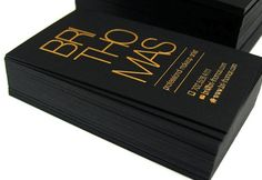 Elegant Black Business Cards with Gold Foil for Makeup Artist