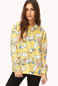 #ForeverHoliday Oversized Simpsons Sweatshirt | FOREVER21 - 2000111499