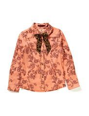 Shirt with contrast pipings + bow - dessin B