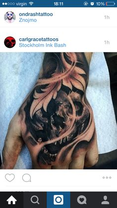 Filigree skull tattoo