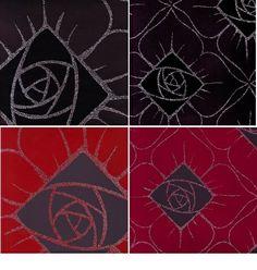 Gestileerde roos zwart en rood