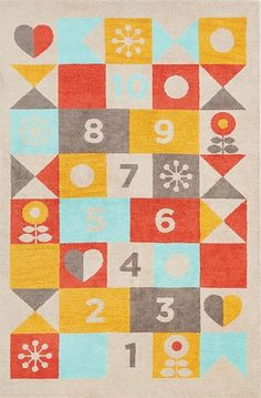 Jaipur Rugs Iconic by Petit Collage - Machine Made Hopscotch Rugs   Rugs Direct