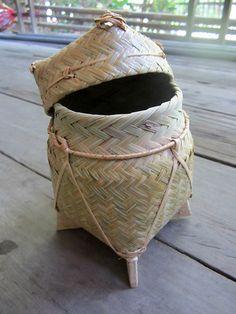Handmade woven accessories basket