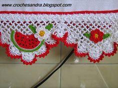 Criatividades em Crochê: Panos de prato com barrado em crochê