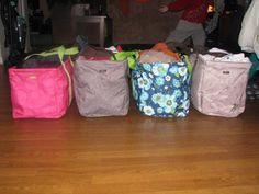 Large Utility Totes hold soooo much, great for organizing & freeing up space :-)