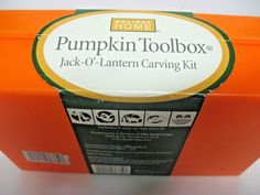 Pumpkin Tool Box Jack-O-Lantern Carving Kit by Holiday Homes 15pc set hand carve #HolidayHome