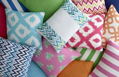 Pillows from the Lilly Pulitzer II and Resort 365 collections | archdigest.com