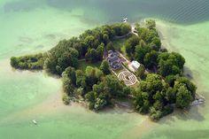 Rose Island in the Lake Starnberg