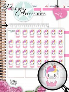 Unicorn Stickers Unicorn Planner Stickers Birthday Stickers Functional Stickers Life Planner Kawaii Stickers Planner Accessories Cute by EmelysPlannerShop Unicorn Stickers, Kawaii Stickers, Cute Stickers, Filofax, Unicorn Coffee, Cute Planner, Shops, Sticker Paper, Planner Stickers