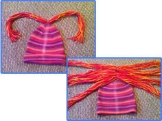 Learn how to make yarn wig with this step-by-step photo tutorial from Rain Blanken, your DIY Fashion Expert.: Thread and Tie Bundles of Yarn on the Front Sewing Hacks, Sewing Crafts, Sewing Tips, Grandma Crafts, Yarn Wig, Diy Wig, Wig Making, Baby Costumes, Doll Hair