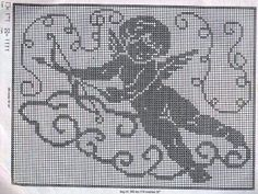 Филейное вязание: Салфетка