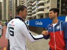 Djokivich and micheal phealp olympics 2016