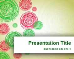 Hand Drawn Circles PowerPoint Template is a free PowerPoint template with green and red hand drawn circles in the master slide