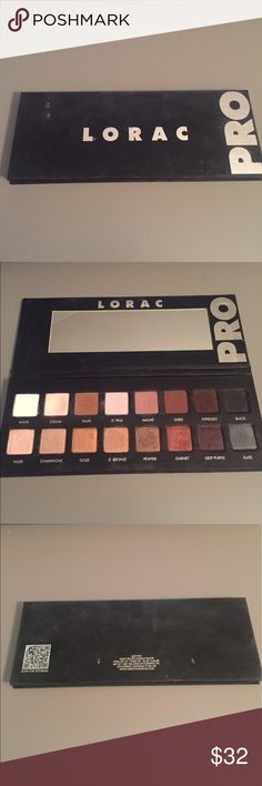 LORAC Pro 1 Used on clients, but sanitized. $32, or best offer. Lorac Makeup Eyeshadow