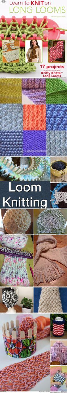 Ideas For Knitting Projects Loom Loom Knitting Stitches, Knifty Knitter, Loom Knitting Projects, Arm Knitting, Yarn Projects, Knitting Ideas, Circle Loom, Loom Crochet, Free Crochet
