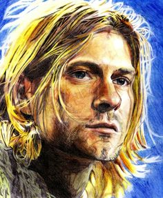 NEW--TOP ART oil painting-The Nirvana Lead Singer Kurt Cobain portrait hand painted --Accept customize custom art Digital Portrait, Portrait Art, Kurt Cobain Art, Nirvana Art, Pop Culture Art, Music Tattoos, Arte Pop, Large Art, Medium Art