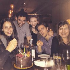 Heida Reed, Aidan Turner, Eleanor Tomlinson, Jack Farthing, and unknown person.