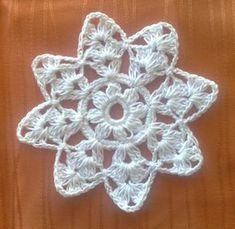 """Weihnachtsbaum Ornament crochet snowflake 4,5"""" Crochet Tree, Crochet Stars, Crochet Snowflakes, Crochet Doilies, Crochet Christmas Decorations, Crochet Christmas Ornaments, Christmas Items, Christmas Crafts, Little Gifts"""