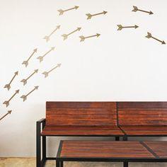 Wall Decal Mini-Pack - Flying Arrows - WallsNeedLove Wall Decals, Adhesive Wall Stripes, Removable Wallpaper & Vinyl Wall Art