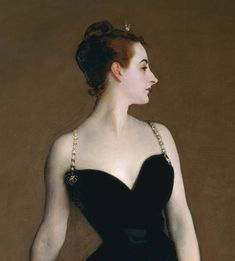 John Singer Sargent (American, 1856–1925). Madame X (Madame Pierre Gautreau) (detail), 1883–84. Oil on canvas; 82 1/8 x 43 1/4 in. (208.6 x 109.9 cm). The Metropolitan Museum of Art, New York