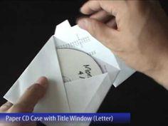 A4 origami CD sleeve