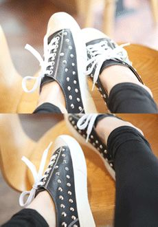Today's Hot Pick :Studded Sneakers http://fashionstylep.com/SFSELFAA0012775/min3111enn/out Bring out your edgy side and try on this studded sneakers. It goes well with skinny, cropped or tapered, pants and it it will surely compliment any top.
