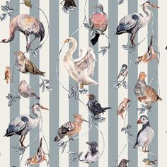 <p>Originally hand-painted onto wood, Flights of Fancy is a unique work of art featuring a symphony of British birds. Swans, jays, blackbirds, grouse,...