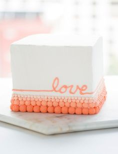 Butter cream DIY cake. So perfect for bridal shower or do it yourself wedding cake from @creativebuginc