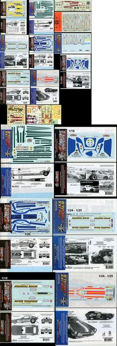 Hot Rod 2582: Slixx Etc Model Drag Race Decals 1 24 1 25 1 16 Funny Cars Dragster Fiat -> BUY IT NOW ONLY: $42 on eBay!