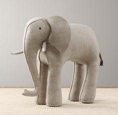 Oversized Wool Felt Elephant
