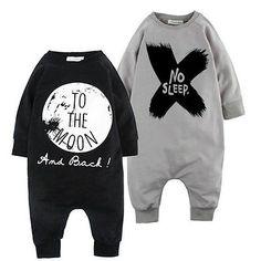 Newborn Kids Baby Boy Infant Warm Cotton Outfit Jumpsuit Romper Bodysuit Clothes