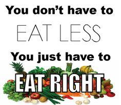 Don't eat less, eat right. #eatclean #weightloss #motivation