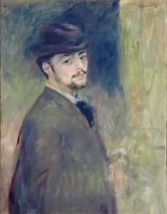 'Self-Portrait', by Pierre-Auguste Renoir. 1876.