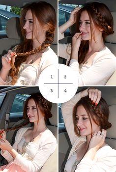 4 Hairstyles You Can Do In Your Car, hair tutorial, hair how to, braids, diy hair do