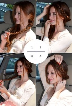 4 Hairstyles You Can Do In Your Car