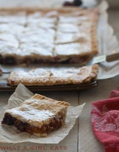 Apricot Cherry Slab Pie, perfect for a crowd!