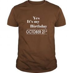 Awesome Tee Birthday October 21 tshirt  Shirt for womens and Men Birthday October 21 - birthday, queens T shirts