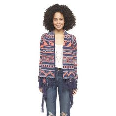 Long Sleeve Fringe Sweater - Self Esteem : Target