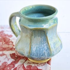 Faceted Mug in Ice Blue