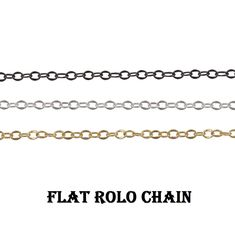 Necklace Making Rolo Chain~~Flat Rolo Link Chain~~Mate Brass Cable Chain~~Bracelet Making Flat Oval Rolo Chain~~Soldered Chain Supply.(1486) Brass Chain, Fashion Flats, Bracelet Making, Chains, Bracelets, How To Make, Etsy, Jewelry, Style