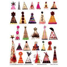 ARTchix Studio Collage Sheet - Party Hats