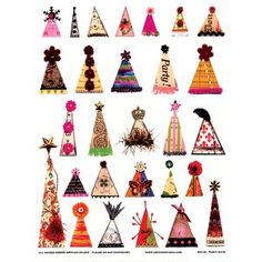 ARTchix Studio Collage Sheet - Party Hats
