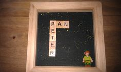 Handmade, personalised gifts and home decor by KrafterDark Lego Frame, Lego Minifigure, Peter Pan Disney, Scrabble, Box Frames, Personalized Gifts, Etsy Seller, Hand Painted, Dark