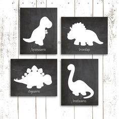 Dinosaur Art Print, Dinosaur Nursery Prints on Chalkboard, Chalkboard Art Prints in 8x10 Inch